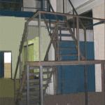Металлическая лестница на производстве
