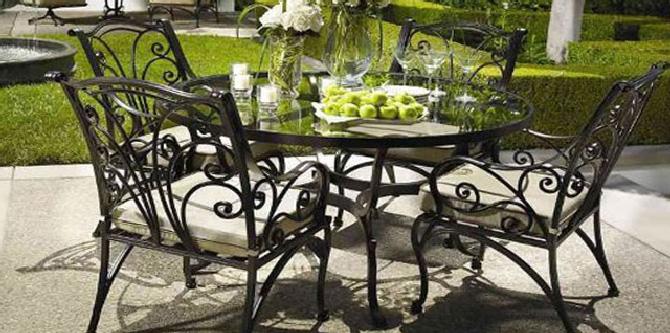 Кованые столы для сада и на кухню