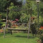 Виды садовых качелей из металла